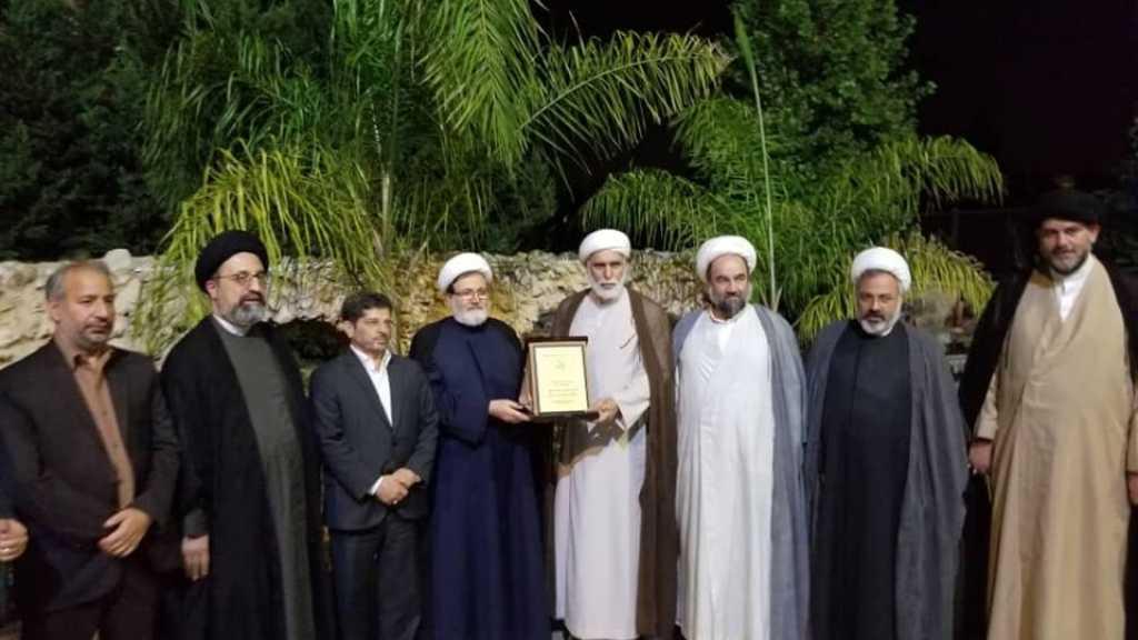 جمعية الإمام الصادق (ع) تكرّم ممثل جامعة المصطفى(ص) العالمية في لبنان