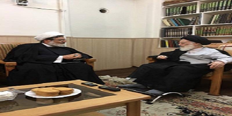الشيخ بغدادي : يلتقي المرجع السيد الزنجاني في قم